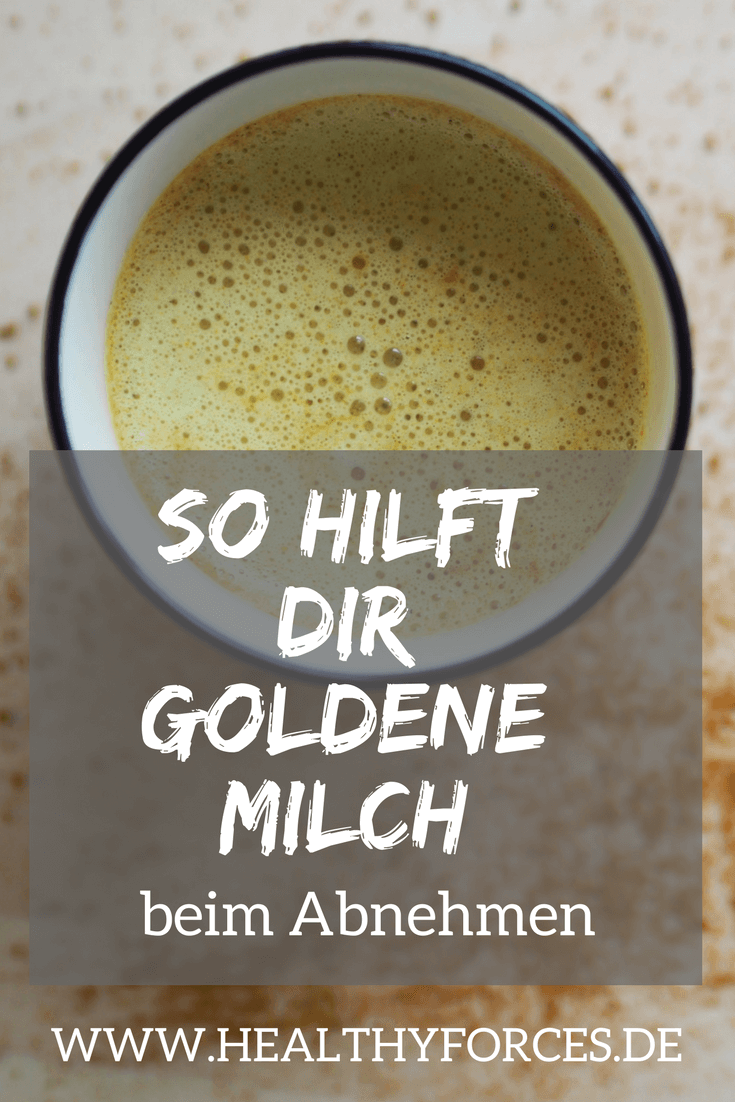Goldene Milch abnehmen