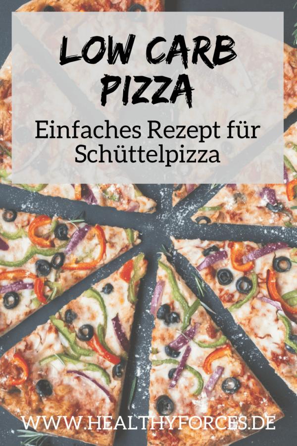 Low Carb Pizza- Einfaches Rezept für Schüttelpizza