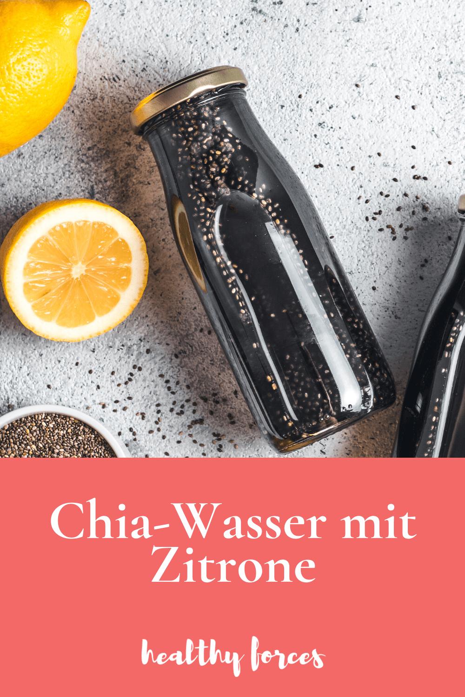 Chia Wasser mit Zitrone
